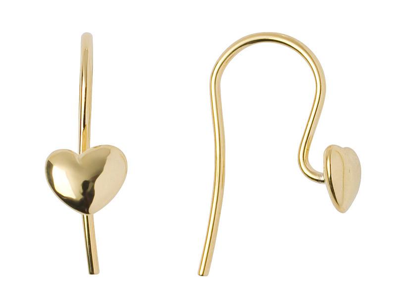 Dream On øreringe m. hjerte i forgyldt sølv