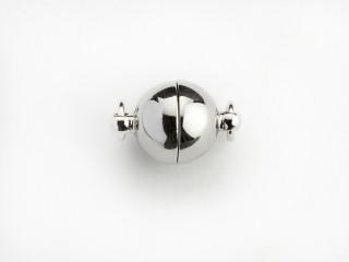 Magnet lås rund 8 mm blank sølv
