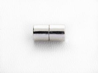 Magnet lås cylinder 11 x 5,5 mm blank sølv