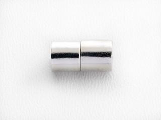 Magnet lås cylinder 13 x 6,5 mm blank sølv
