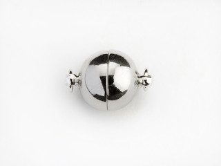 Magnet lås rund 10 mm blank sølv