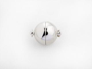Magnet lås rund 12 mm blank sølv