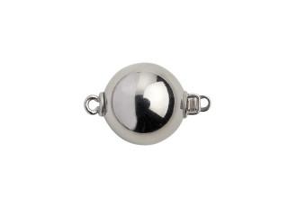 Lås med indstik rund 12 mm blank sølv