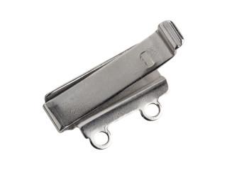 Sølv indstik til perlelås 2 rækker