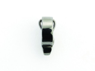 Dream On clips enkel bred i sort rhodineret sølv
