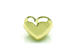On Wire lås hjerte 16 x 18 mm blank forgyldt sølv