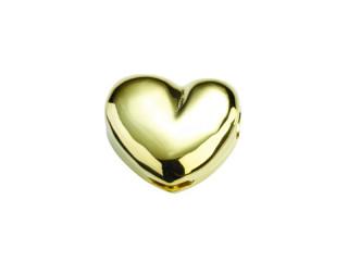 On Wire lås hjerte 15x13mm blank forgyldt sølv