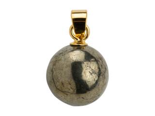 Vedhæng 10 mm blank pyrit