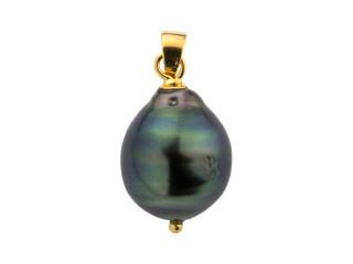 Vedhæng med 11-13 mm barok tahiti perle