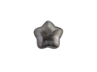 On Wire lås stjerne 14 mm ridset sort rhodineret sølv