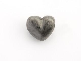 On Wire lås hjerte 15x13mm børstet sort rhodineret