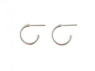 Sølv creol 13 mm i dia. 1,9 mm tyk.
