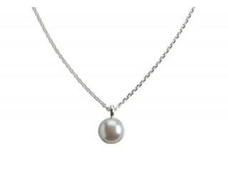 Aia halskæde 10 mm sølv med ferskvandsperle