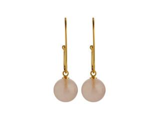 Stor ørering  10 mm blank rosaquarts