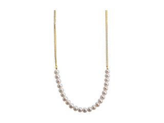Pearls halskæde sølv forgyldt  med hvid fvktp