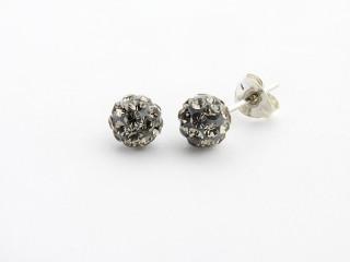 Sølv ørestik 6 mm grå similikugle