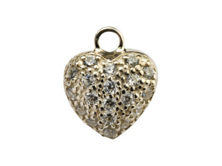 Dream On vedhæng 11 x 11 mm sølv hjerte m. syn. zircon
