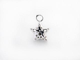 Dream On vedhæng 11 x 11 mm sølv stjerne m. mønster og syn. zircon