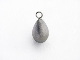 Dream On vedhæng 13 x 9 mm sort rhodineret sølv dråbe