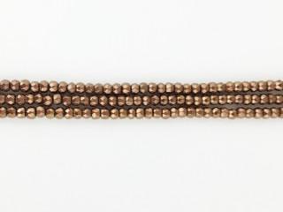 Facetteret 3-4 mm kobber hæmatit kæde