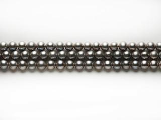 Ferskvandsperle 10-11 mm sølvgrå, let oval