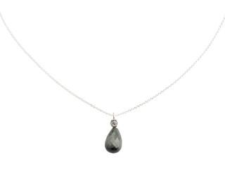 Sølv halskæde m. facetteret eagle eye og zirkon