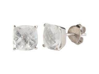 Nola ørestik sølv med 8 mm facetteret bjergkrystal