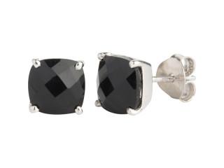 Nola ørestik sølv med 8 mm facetteret onyx