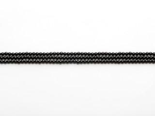 Blank 4 mm onyx kæde