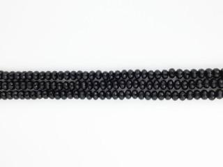 Facetteret 6x8 mm rondel onyx kæde