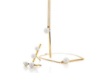 Smykkesæt med stav og perle