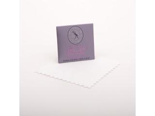 Pudseklud til smykker - microfiber 6,5 x 6,5 cm